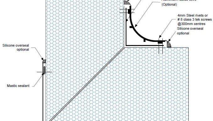 Dettaglio parete parete L PF12 - disegni tecnici - pannelli termici srl
